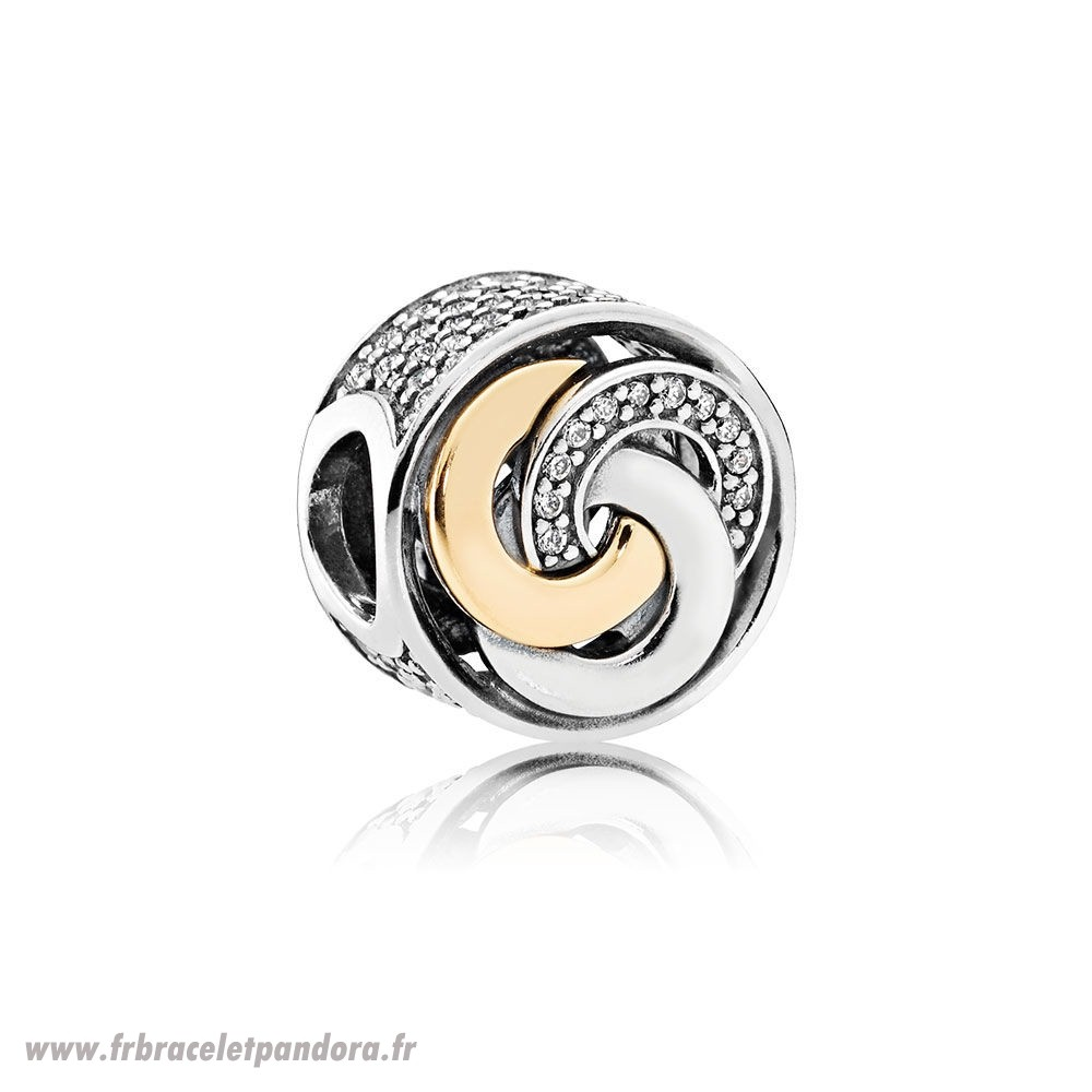 Original Charms Contemporains Cercles Inter Charme Clear Cz Bijoux Discount