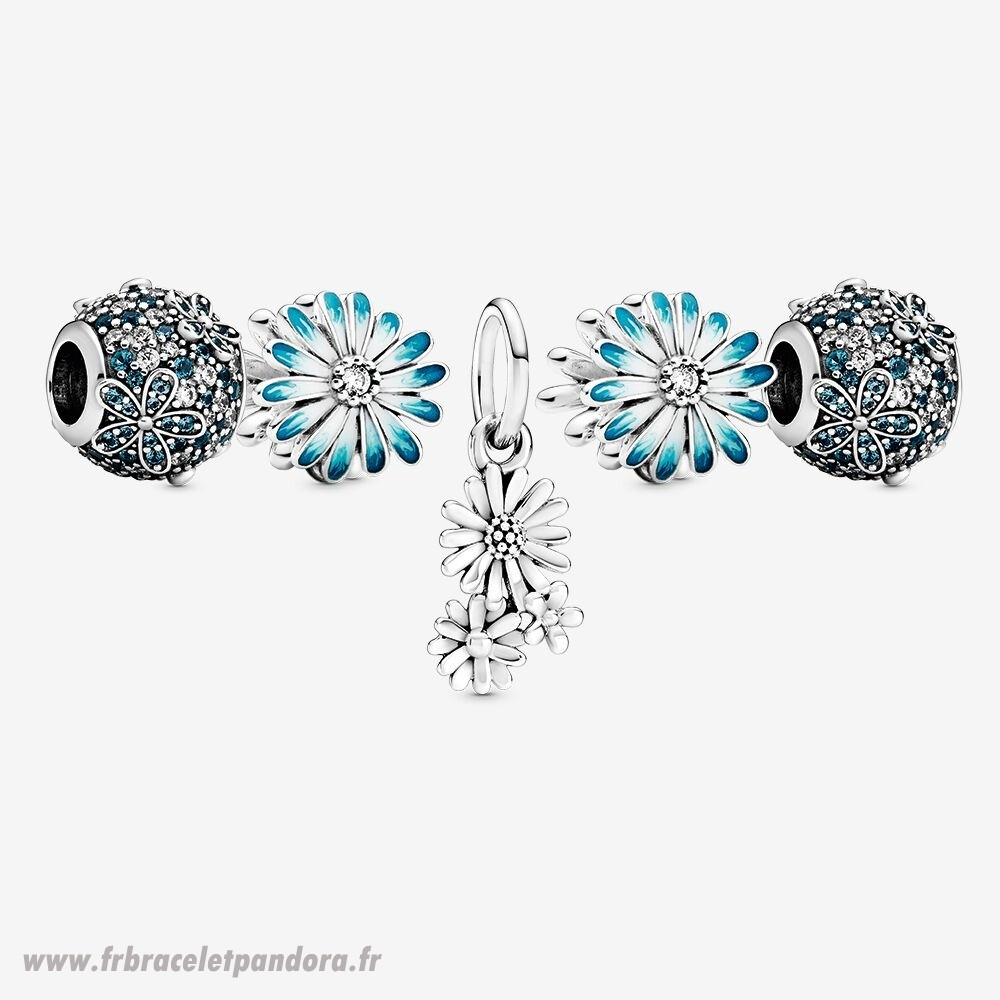 Original Bleue Marguerite Charm Ensemble Bijoux Discount