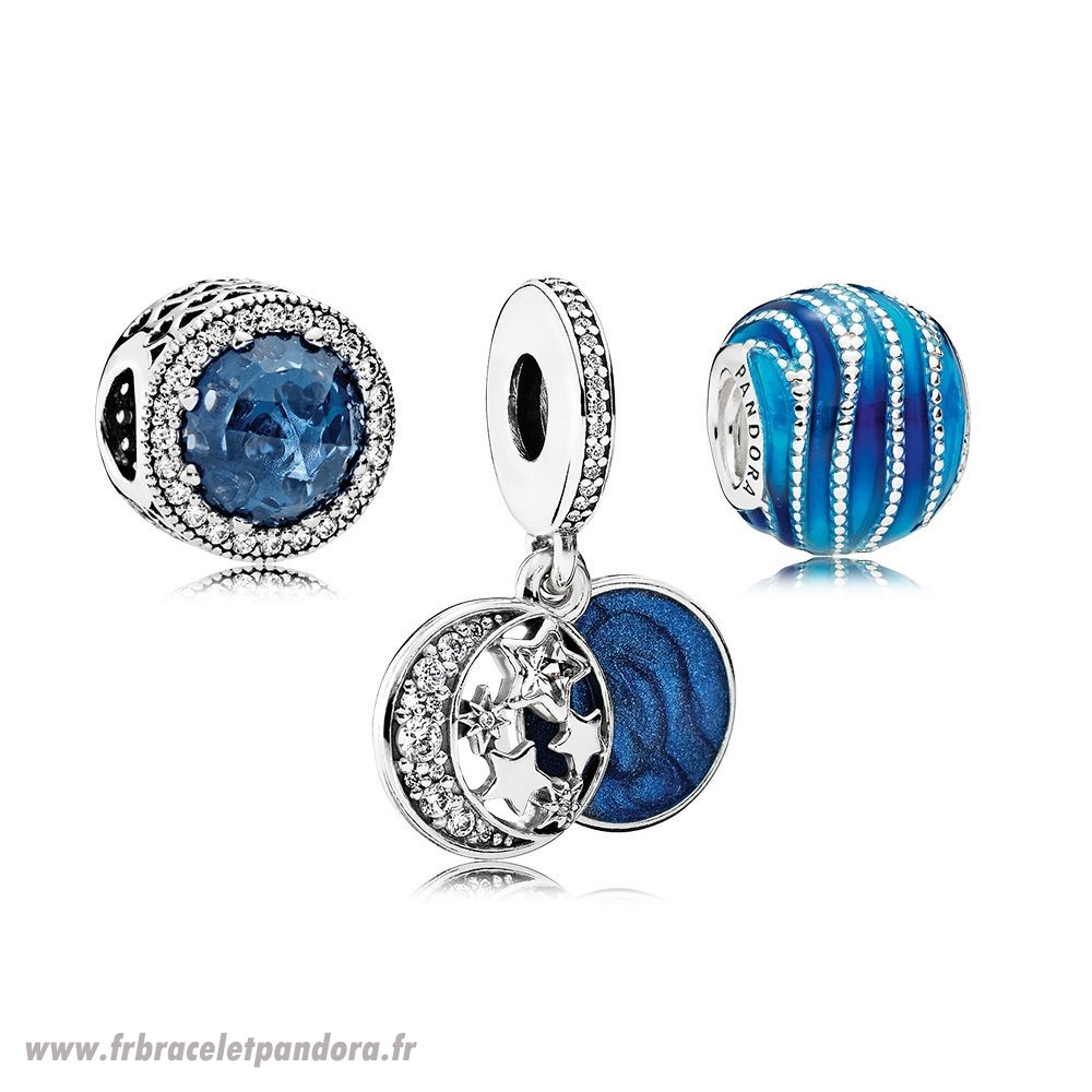 Original Brillante Bleue Charm Pack Bijoux Discount