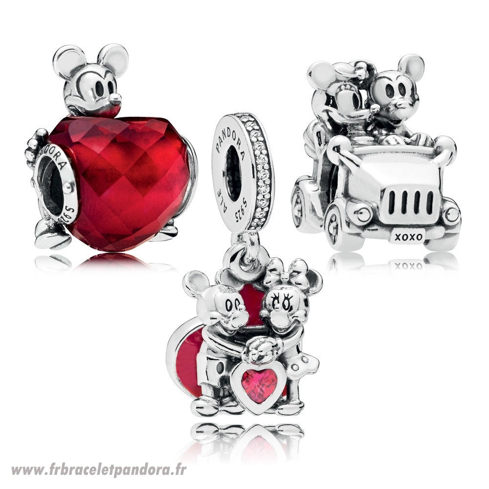 Original Disney Mickey Et Minnie Amour Charm Pack Bijoux Discount