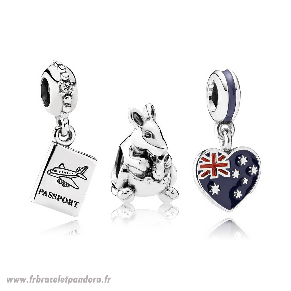 Original Escape A Australia Charm Set Bijoux Discount