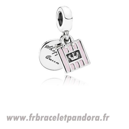 Original Pandora Passions Charms Chic Glamour Achats Queen Dangle Charm Soft Rose Email Bijoux Discount