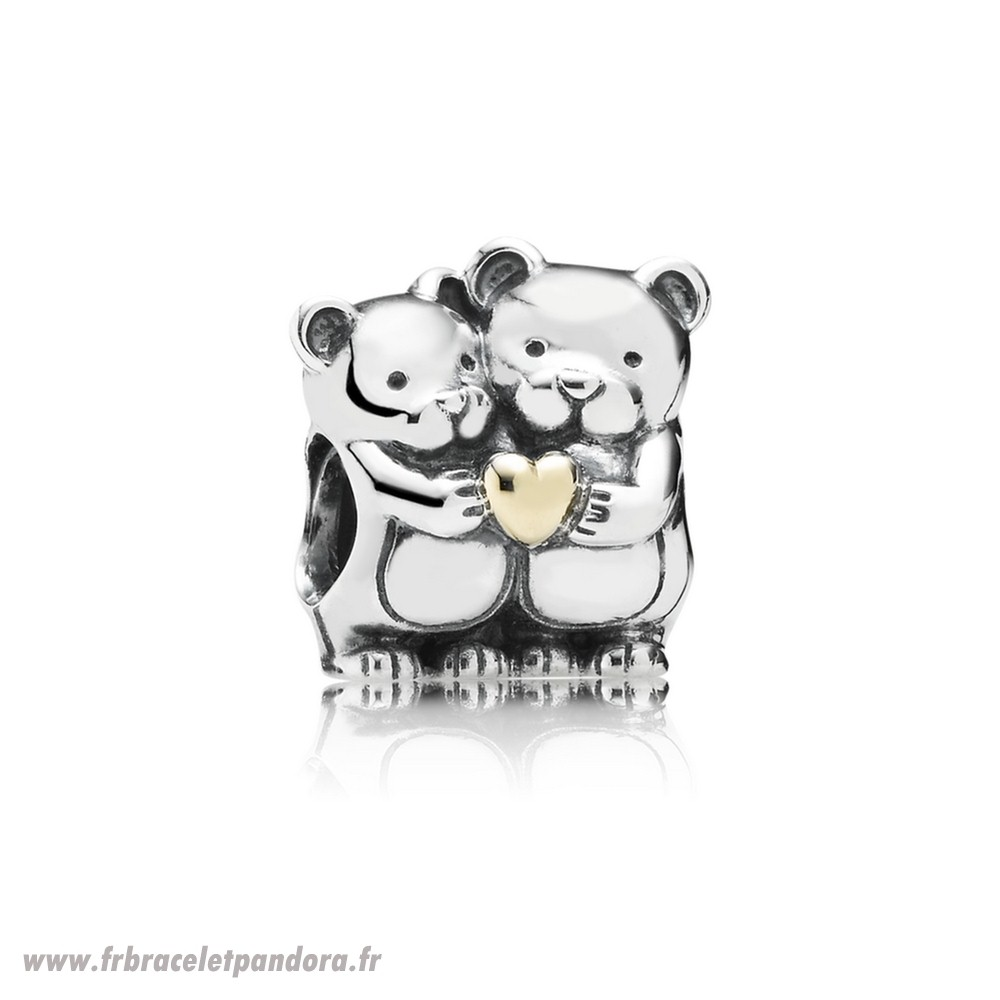 Original Pandora Famille Charms Ours Calin Charme Bijoux Discount