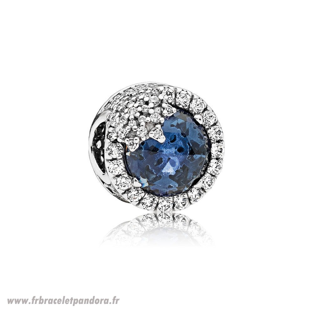 Original Nature Charms Dazzling Flocon De Neige Twilight Blue Cristaux Clear Cz Bijoux Discount