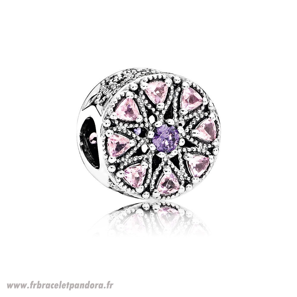 Original Pandora Breloque De Couleur Charme Medaillon Charmant Multi Colour Cz Bijoux Discount