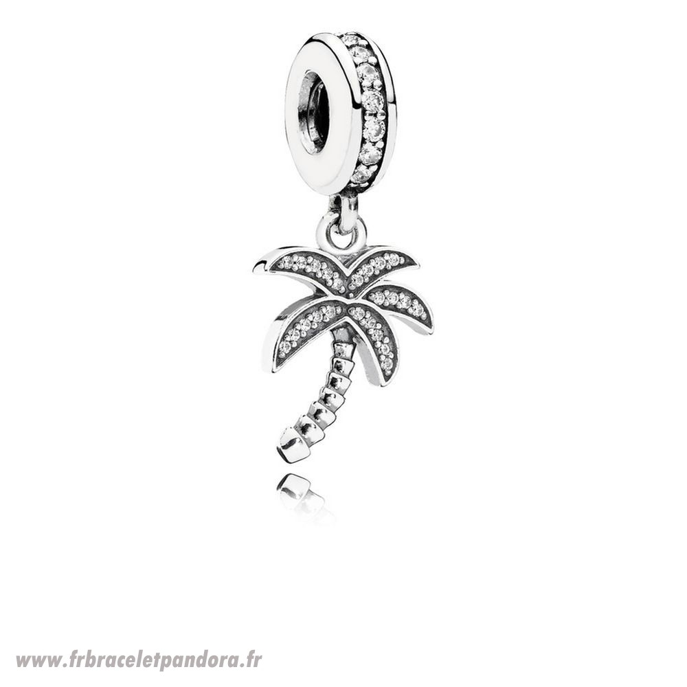 Original Pandora Nature Charms Charmant Palmier Dangle Charme Clear Cz Bijoux Discount