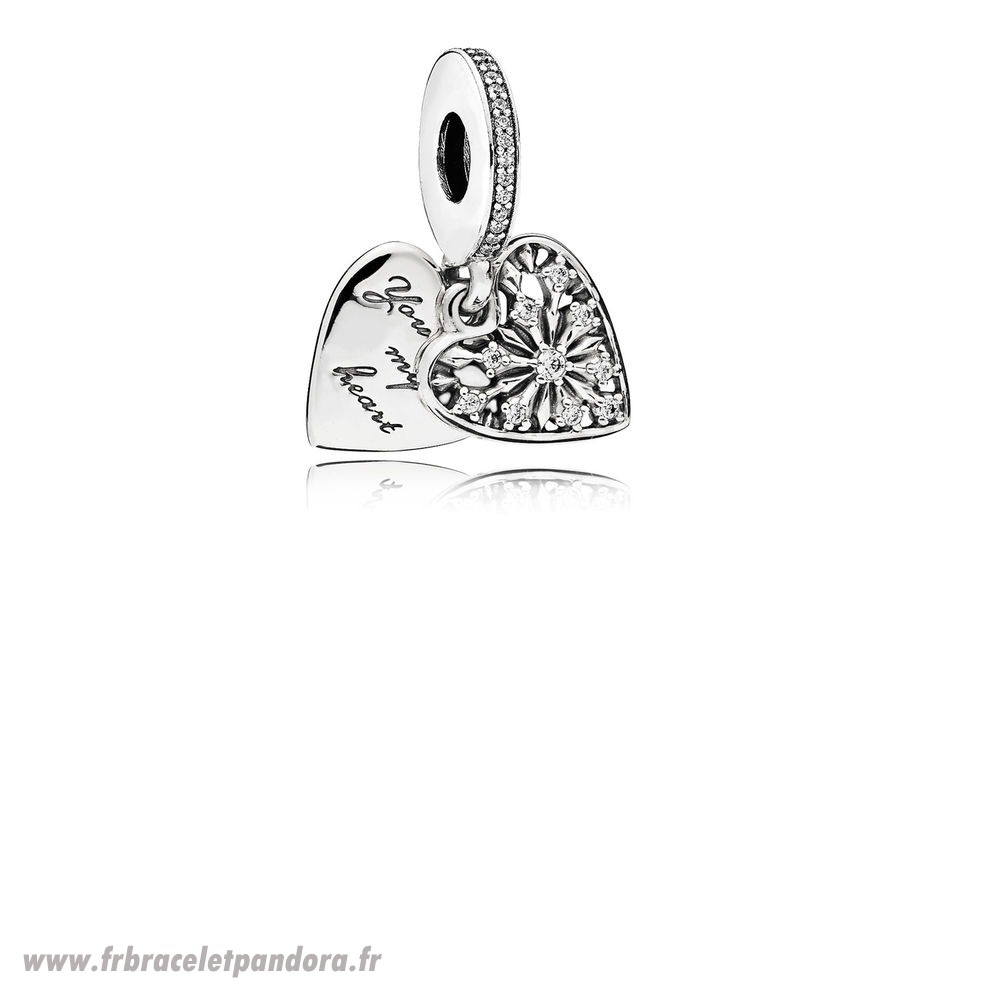Original Pandora Nature Charms Coeur De Hiver Dangle Charm Clear Cz Bijoux Discount