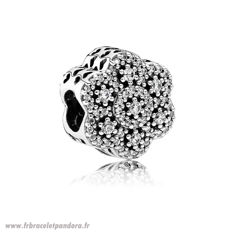 Original Pandora Nature Charms Crystalized Charme Clear Cz Bijoux Discount