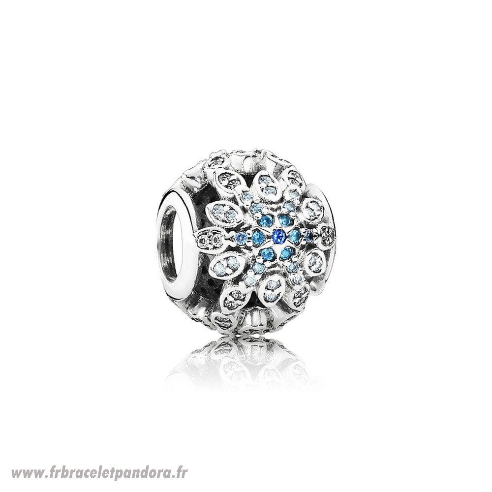 Original Pandora Nature Charms Crystalized Flocons De Neige Charm Blue Crystals Clear Cz Bijoux Discount