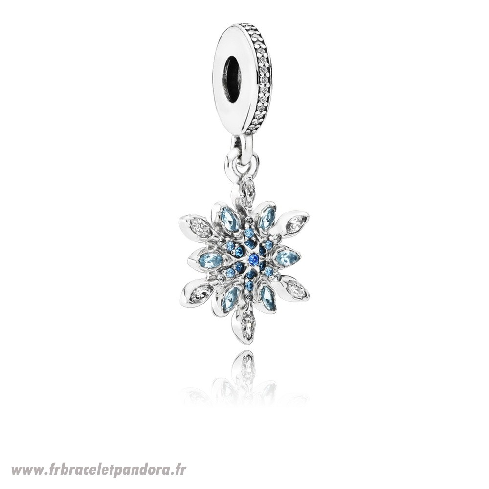 Original Pandora Nature Charms Crystalized Snowflake Dangle Charm Blue Crystals Clear Cz Bijoux Discount