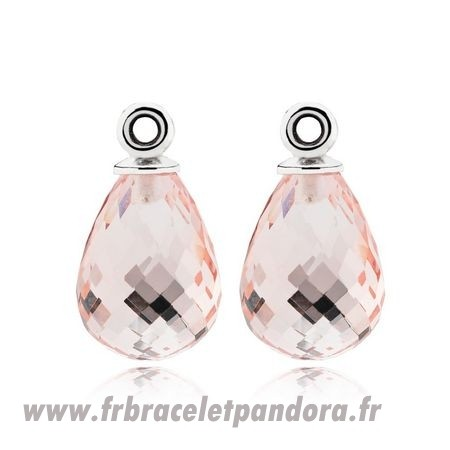 Original Fascinating Beauty Boucles D'Oreilles Charms Rose Murano Glass Bijoux Discount